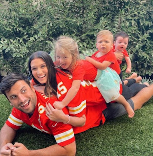 Jade Roper with her husband Tanner Tolbert and their children
