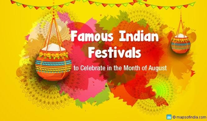 Fairs and famous August  Festivals in India