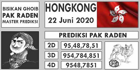 Prediksi Togel Hongkong Pak Raden Senin 22 Juni 2020
