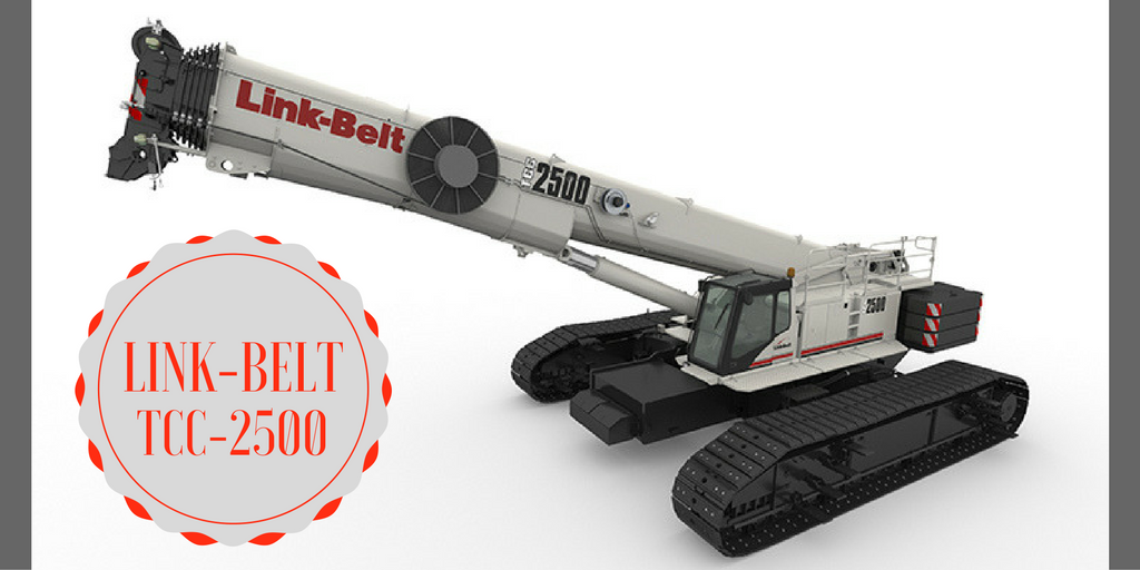Link-belt showing off its new 250 US ton telescopic crawler, the TCC-2500