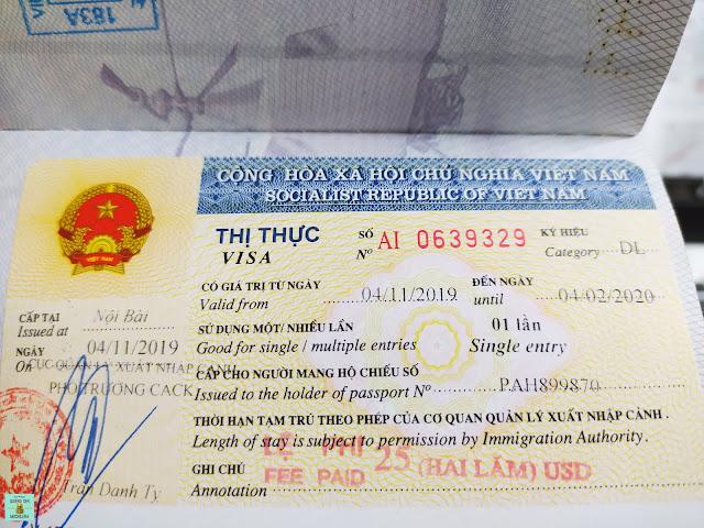 Visado de Vietnam para 90 días