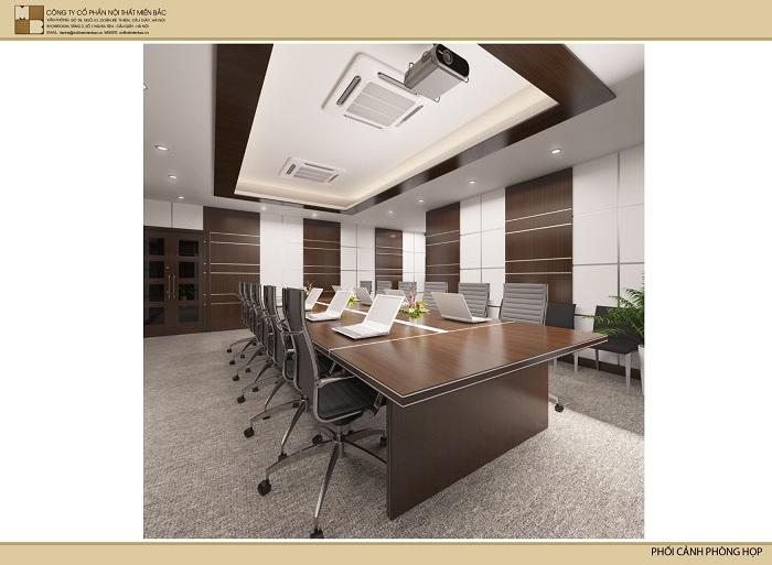 Thiết kế nội thất phòng họp mang phong cách hiện đại - H1
