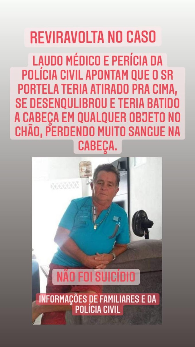 Reviravolta em Chapadinha: Laudo médico e perícia da Polícia Civil apontam que o Sr. Portela não cometeu suicídio.