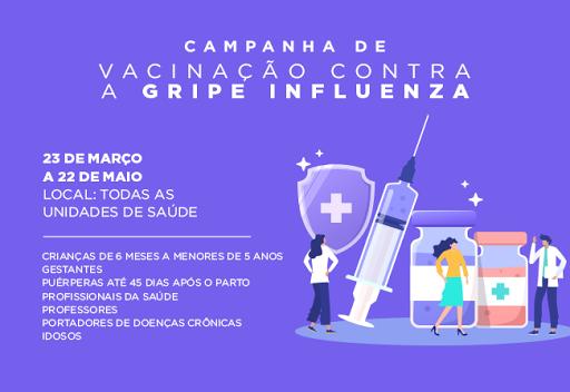 Novo grupo será vacinado contra a Influenza em Cajati