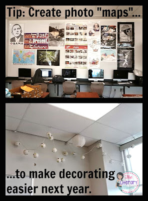 "Take purposeful pictures, ""photo maps,"" of your classroom as you set it up this year to save yourself time when you decorate next year."