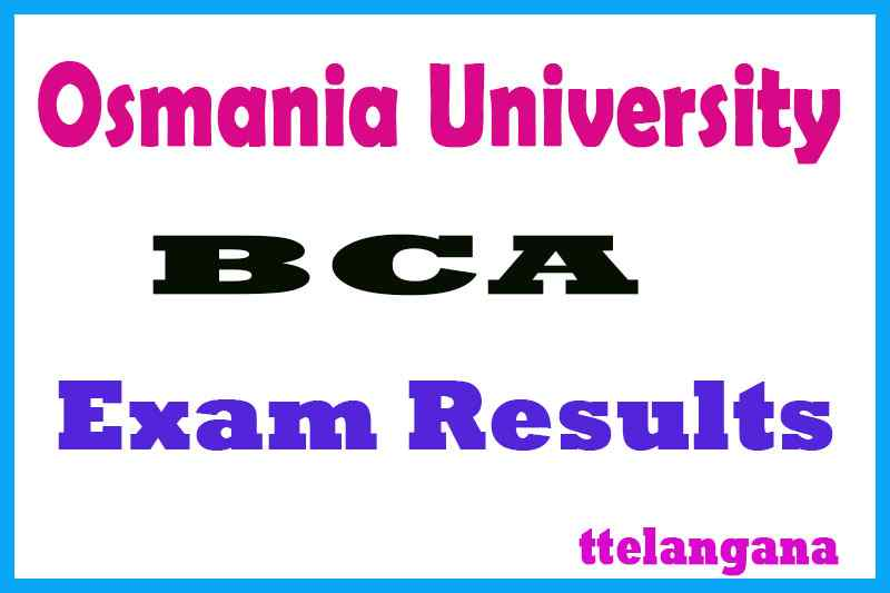 Osmania University BCA Exam Results