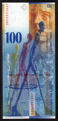 Swiss National Bank 100 Swiss Francs Franken