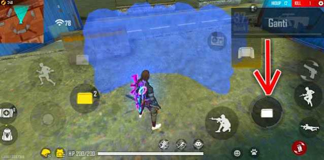 Tap Tombol Tembak Untuk Memasang Gloo Wall