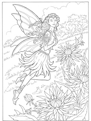 fall fairy coloring pages - photo#17