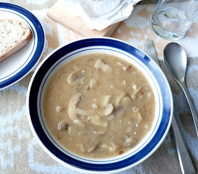 Sherried Mushroom and Shallot Soup