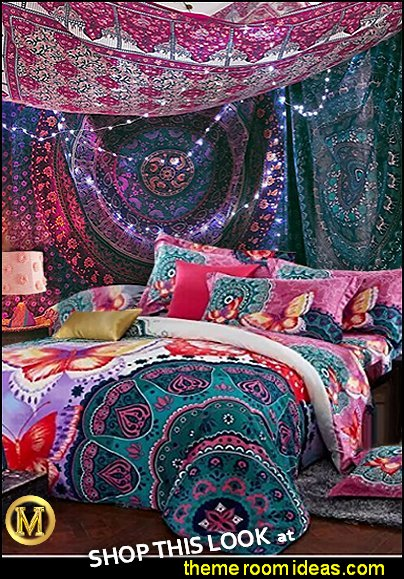 boho bedding Bohemian Tapestries Hanging Ethnic Decorative tapestry MARIES MANOR BEDROOMS