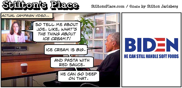 stilton's place, stilton, political, humor, conservative, cartoons, jokes, hope n' change, harris, obama, biden, campaign, ice cream