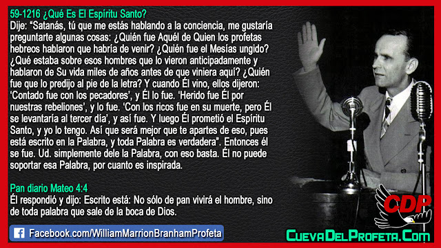 Satanás hablando a la conciencia - William Branham en Español