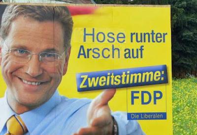 Lustige Bilder Wahlen in Deutschland FDP Wahlversprechen
