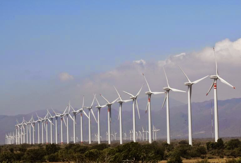 Wind turbines are seen at the La Ventosa project in Mexico's Oaxaca state. A new report Tuesday found that 55 emerging markets are installing renewable energy projects at nearly twice the rate of more developed nations.  (Credit: Reuters) Click to enlarge.