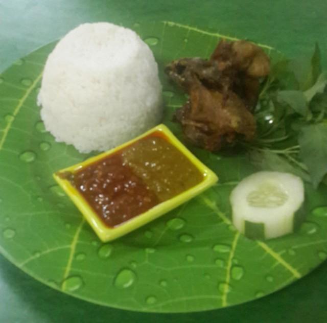 Menu Bebek Goreng di Depot Soto Ayam Kampung Pak Djayus Manyar