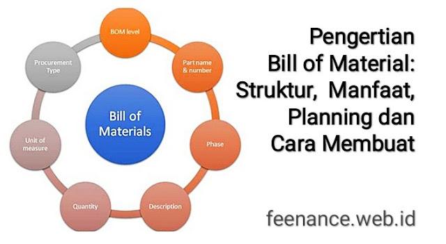 Pengertian Bill of Material Cara Membuat Bill of Material