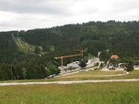 Das neue Nationalparkzentrum am Ruhestein im Nationalpark Schwarzwald ist im Bau