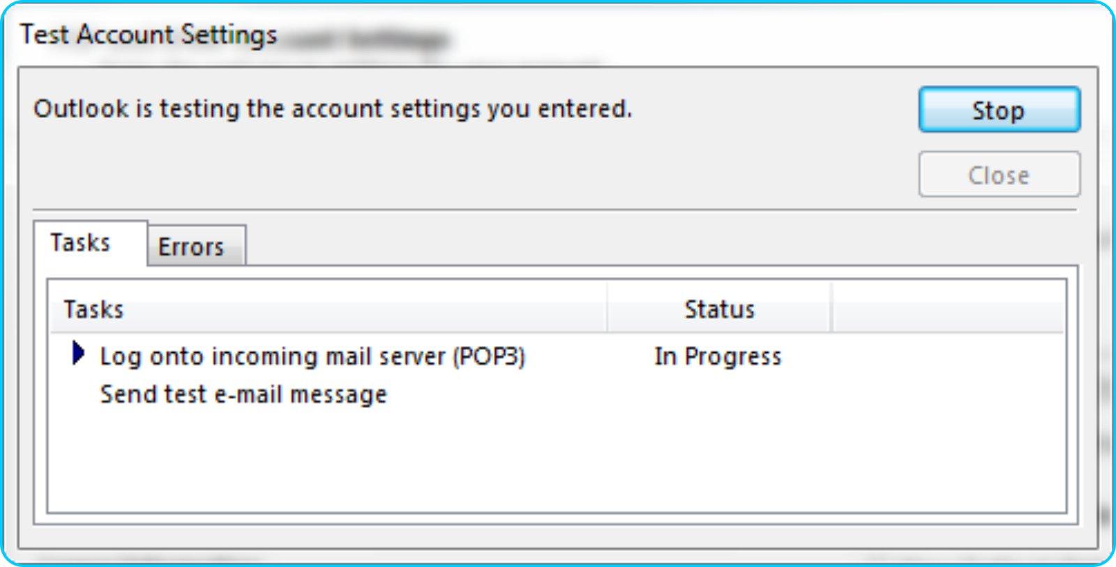 GMail Pada Outlook - Test Kirim & Terima Mail Pada Outlook