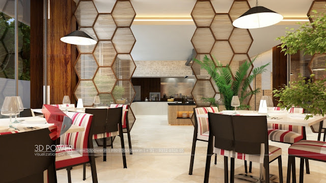 Interior 3D Rendering of Ramada Hotel Bangalore