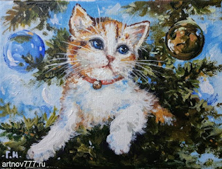 Котёнок-в-игрушках-картина