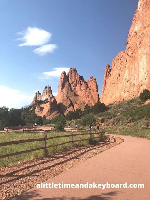 Grey Rock and South Gateway Rock at Garden of the Gods in Colorado Springs, Colorado