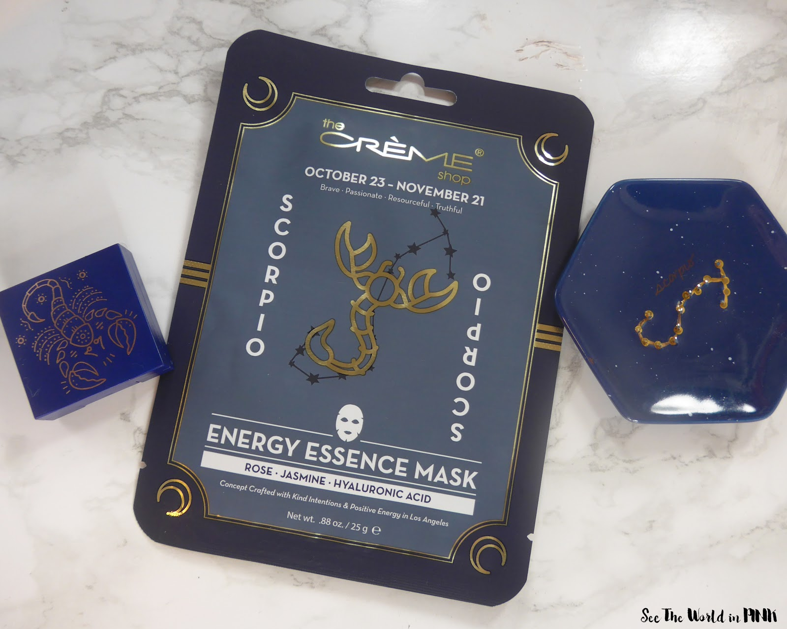 Mask Wednesday - The Creme Shop Energy Essence Scorpio Zodiac Mask