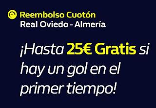 william hill promocion Oviedo vs Almería 1-11-2019