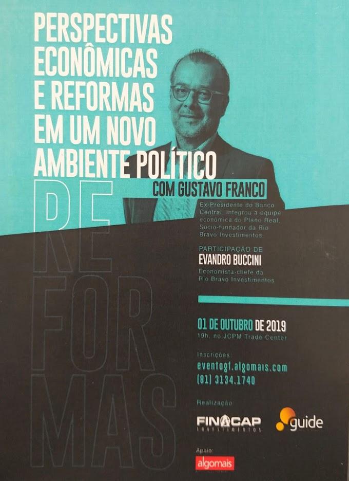 Nova operação financeira traz Gustavo Franco para palestra no JCPM
