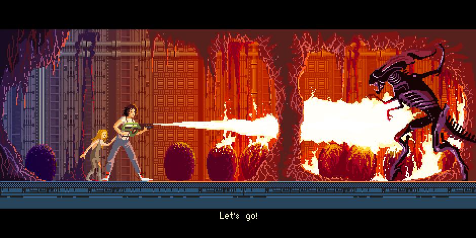 Aliens: El Regreso - Pixel Art