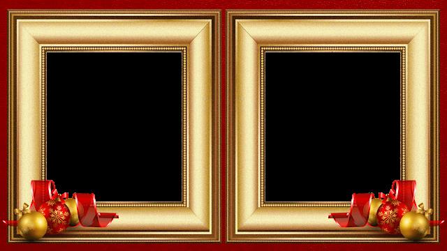Natal - Moldura Douradas sob Red 50 B - 2 fotos