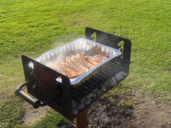 Portion Beef Rib selbst eingelegt und gegrillt in der Bucht von San Diego, Californien