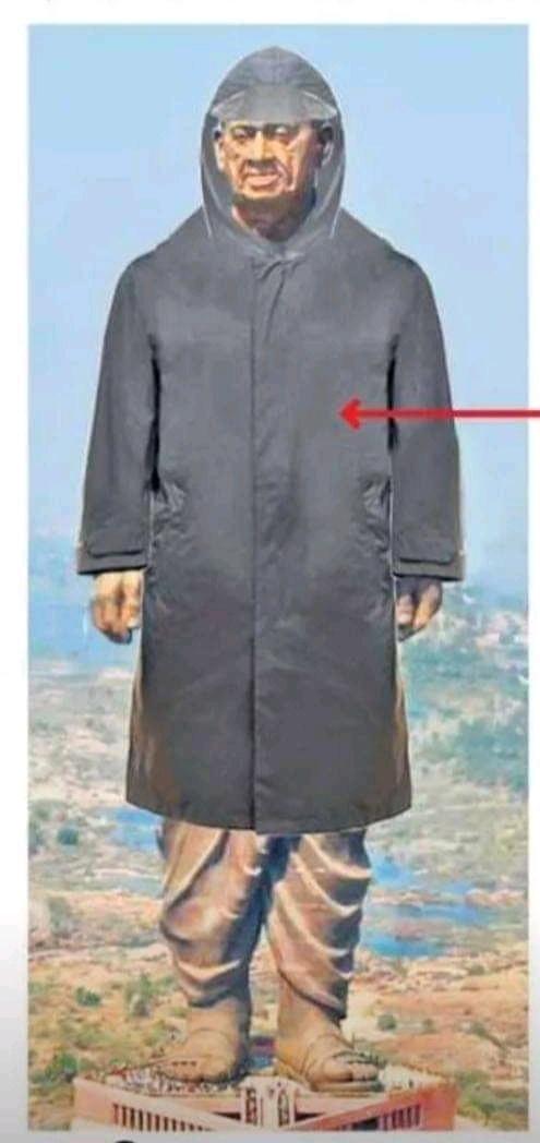 स्टैचू ऑफ यूनिटी को क्यो पहनाया रेनकोट