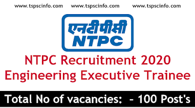 NTPC Recruitment 2020 Engineering Executive Trainee Apply Now