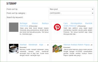 Membuat Peta Situs ke Blogger Dengan Gambar Mini Posting