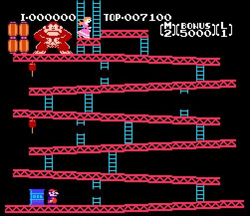 a3117a8c9 Em 1981, Shigeru Miyamoto cria o jogo para arcadeDonkey Kong (algo como