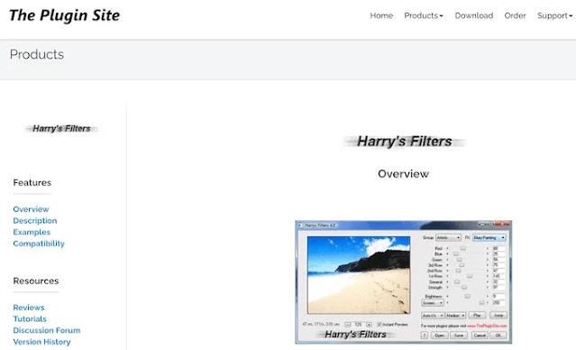 Harry's Filters Via The Plugin Site