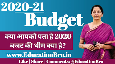 Themes of Union Budget 2020-21, Do you know, Check here now