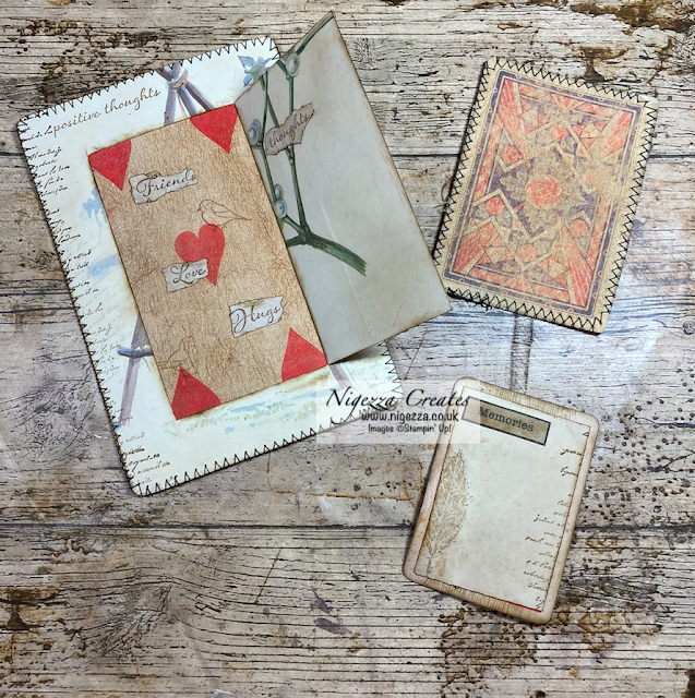 Edith Holden Altered Playing Cards