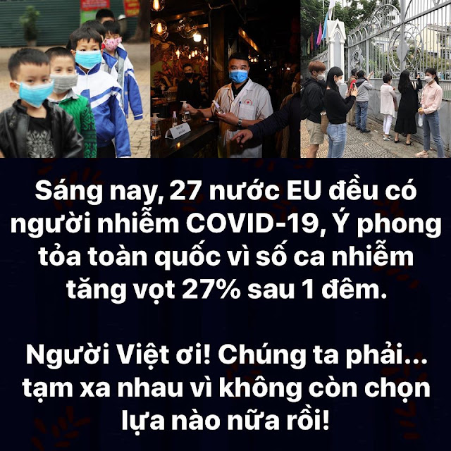Dịch Covid-19: Xin lỗi, nhưng chúng ta phải tạm xa nhau...