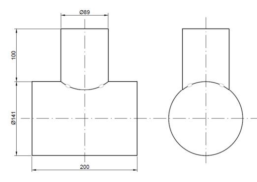 Ondacuadrada Injerto De Tubería Distinto Diámetro En ángulo Recto