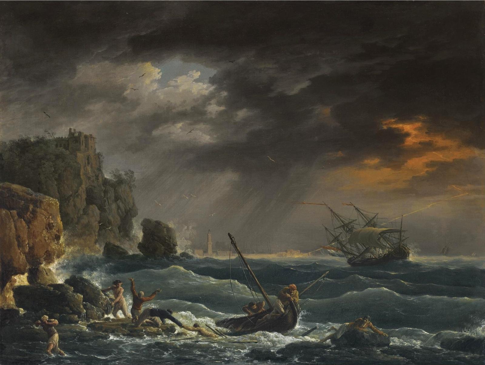 claude joseph vernets shipwreck Claude joseph vernet, shipwreck, 1763, oil on canvas, 102 x 126 cm, the hermitage vernet, claude joseph vigée lebrun, elisabeth winterhalter, franz xavier.