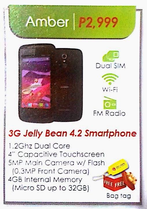 Cherry Mobile Amber 3G capable Jellybean phone for 2999 pesos
