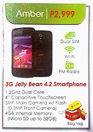 Cherry Mobile Amber 3G capable Jellybean phone for 2999 pesos