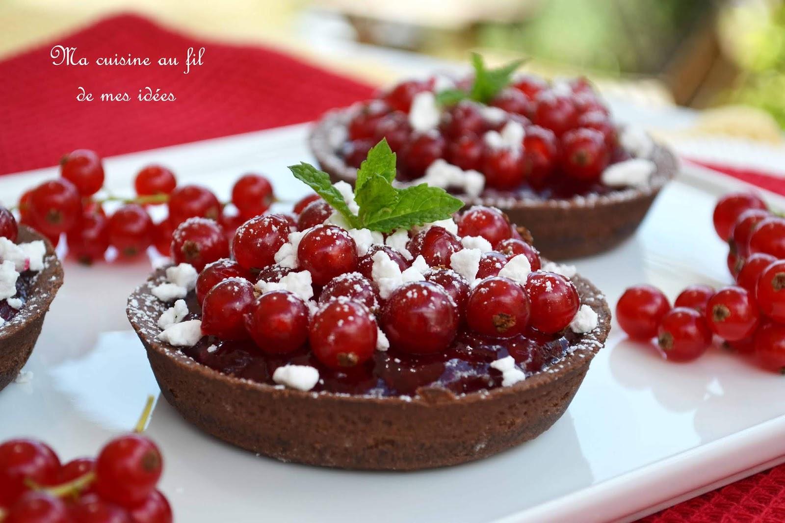 Ma Cuisine Vos Envies ma cuisine au fil de mes idées: tartelettes chocolat aux