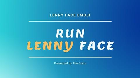RUN Lenny Face, RUN Text Faces and RUN Japanese Emoticons : Lenny Face Emoji ( ͡° ͜ʖ ͡°)