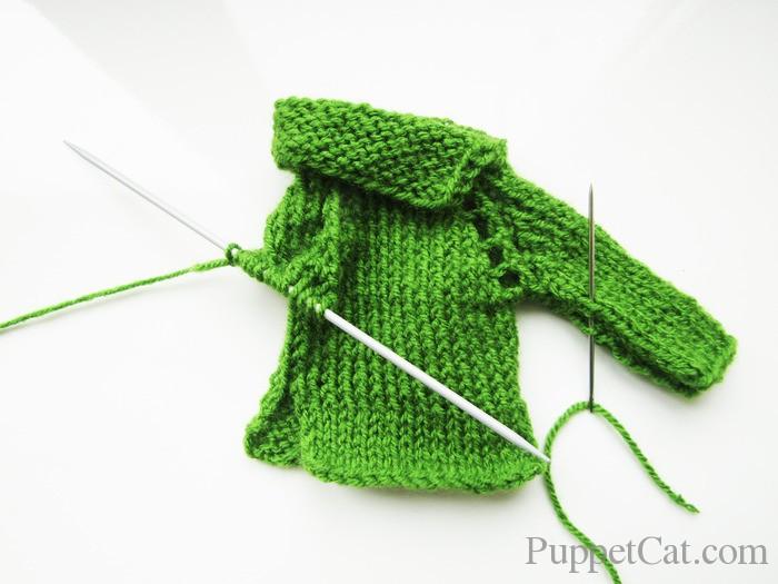 Как связать свитер для Кена