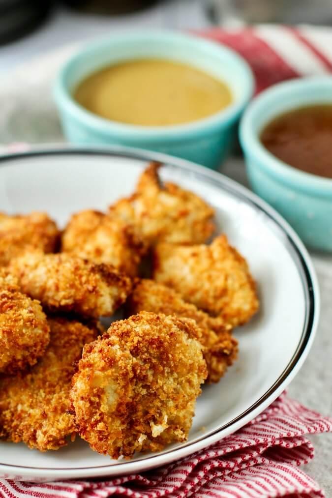 Chicken Nuggets made in an air fryer