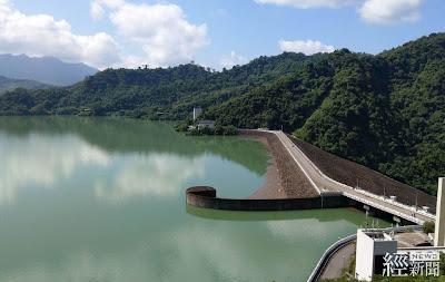107年9月完成曾文水庫加高,增加庫容5,500萬噸滿水位蓄升情形