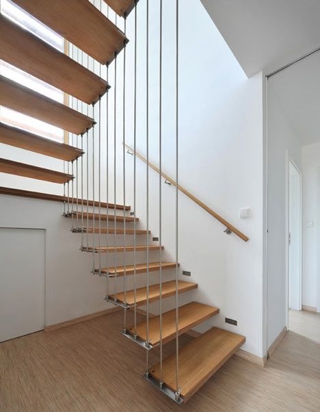 Wooden floating stairs images